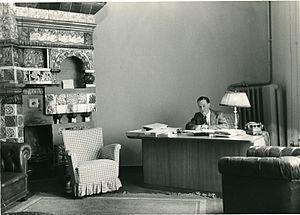 Noël Deschamps - Deschamps in his office as Chargé d'Affaires in Moscow.