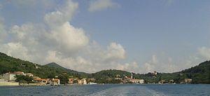 Šipan - Image: Šipanska Luka, pogled s morske strane