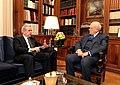Συνάντηση ΥΠΕΞ Δ. Αβραμόπουλου με Πρόεδρο της Δημοκρατίας Κ. Παπούλια (8386360759).jpg