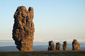 Troitsko-Pechorsky District - Manpupuner rock formations, a protected area of Russia in Troitsko-Pechorsky District