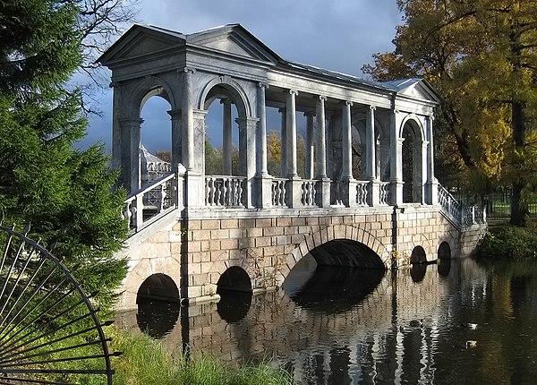 Best amateur photo. Marble bridge in Catherine Park, Pushkin town. Author: SBMK