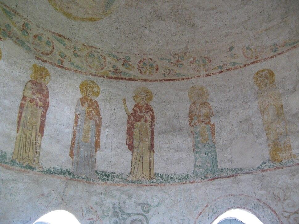 Роспись в куполе лестничной башни (2)