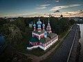 Церковь Царевича Дмитрия. Углич. Кремль. С воздуха..jpg