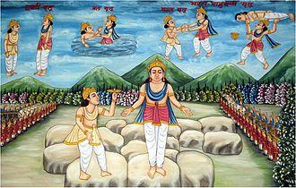 Bharata Chakravartin - Depiction of Bharata-Bahubali fight
