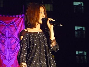 Ann (singer) - Ann performing at the Southern Taiwan University of Technology graduation concert in 2013