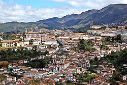 Overview of the Ouro Preto Historical Centre