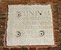 0012 - Milano - Sant'Ambrogio - Atrio - Frammento lapide C. Plinio - Foto Giovanni Dall'Orto 25-Apr-2007.jpg