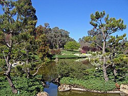 Japanese Garden in Cowra, NSW showing the use of stone, water and plants