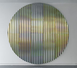 Frank Ammerlaan - Day's End, Metal and colour passivated zinc, 2012.
