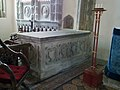 057 Stoke Rochford Ss Andrew & Mary, interior - chancel altar tomb.jpg