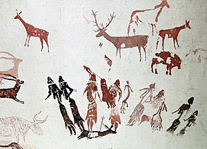 Rock art of the Iberian Mediterranean Basin - The Dance of Cogul, tracing by Henri Breuil