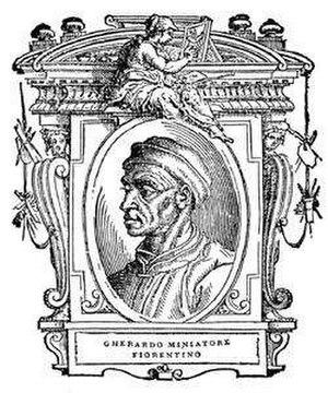 """Gherardo di Giovanni del Fora - Portrait from Vasari's """"Vite"""""""