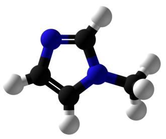 1-Methylimidazole - Image: 1 Methylimidazole Ball and Stick