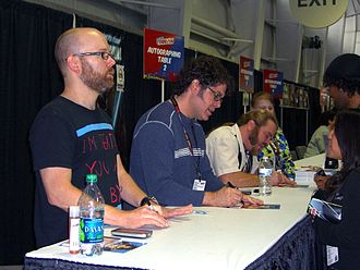 Sean Schemmel - Sean Schemmel (second from left) in 2011
