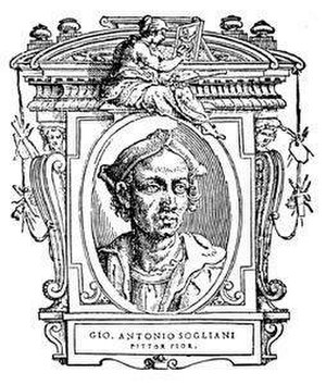 "Giovanni Antonio Sogliani - Portrait of Giovanni Antonio Sogliani, 1568, illustration from ""Le Vite"" by Giorgio Vasari"