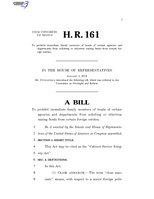 116th United States Congress H. R. 0000161 (1st session) - Cabinet Service Integrity Act.pdf