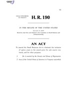116th United States Congress H. R. 0000190 (1st session) - Expanding Contracting Opportunities for Small Businesses Act of 2019 C - Referred in Senate.pdf