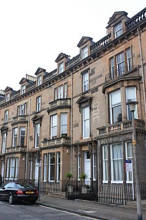 James Falshaw - Falshaw's house at 14 Belgrave Crescent, Edinburgh