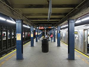 Shallow column station - 14th Street station of the New York City Subway