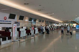Graz Airport - Check-in area