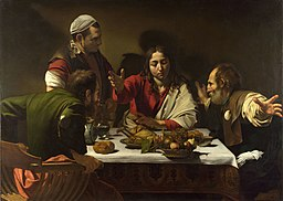 1602-3 Caravaggio,Supper at Emmaus National Gallery, London