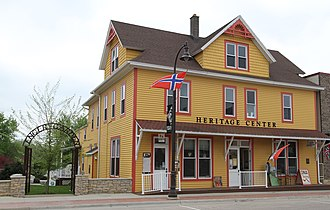 National Register of Historic Places listings in Houston County, Minnesota - Image: 163West Main Spring Grove MN