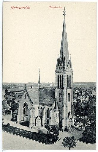 Geringswalde - Image: 16608 Geringswalde 1913 Stadtkirche Brück & Sohn Kunstverlag