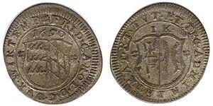 Kreuzer - 1690 Kreuzer of Friedrich Karl, administrator
