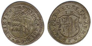 Historic coin in southern Germany, Austria, Switzerland