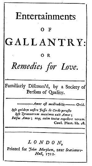 Galant style - Entertainments of Gallantry (1712)
