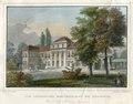 1850 circa Johann Friedrich Lange Stahlstich nach Ludwig Rohbock, Das Lustschloss Montbrillant bei Hannover, koliriert, Blattausschnitt 1.tif