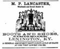 1864 Lancaster advert Main Street in Lexington Kentucky.png