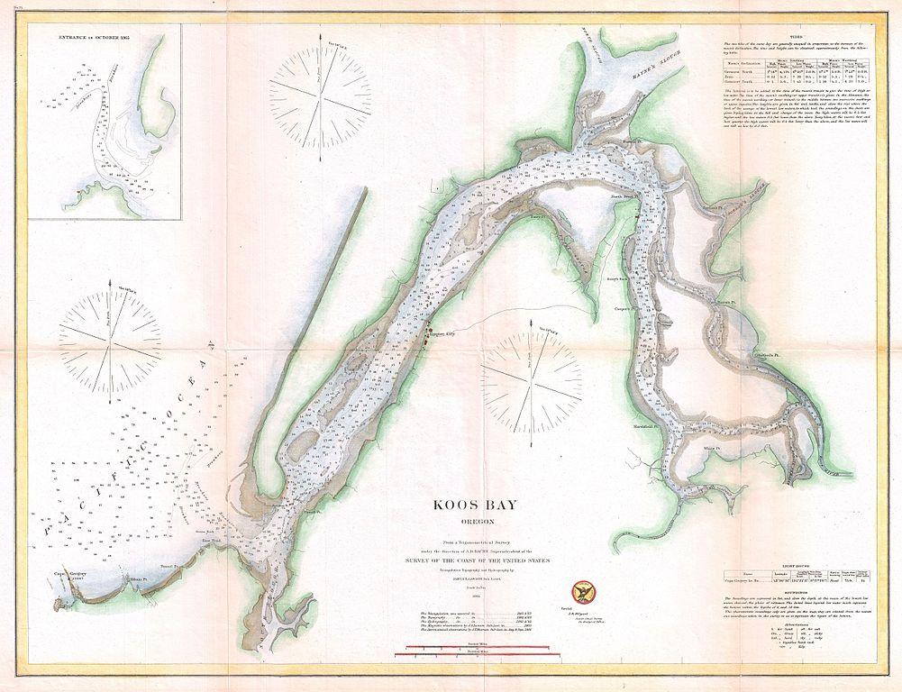 file 1865 u s  coast survey map of coos bay  oregon