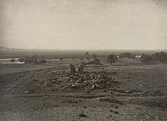 1868 photo of Avanteshwara Hindu temple ruins in Kashmir.jpg