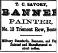 1873 T C Savory advert 13 Tremont Row Boston USA.png