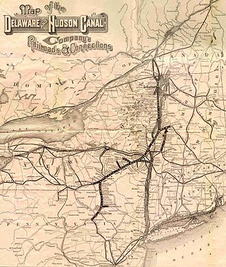 Delaware and Hudson Railway - 1886 map of the Delaware and Hudson Company's Railheads and Connections