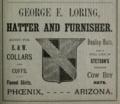 1888 Loring ad Phoenix Arizona.png