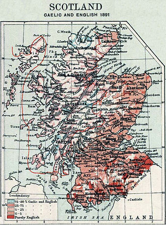 Scottish Gaelic - Image: 1891 Scotland Languages