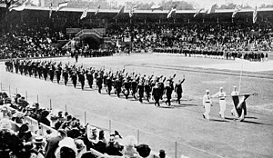 Hungary at the 1912 Summer Olympics - The team of Hungary at the opening ceremony.