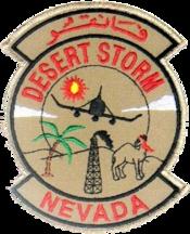 192d Tactical Reconnaissance Squadron - Desert Storm Emblem