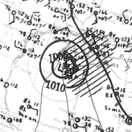 1932 Freeport hurricane analysis 13 Aug 1932.png