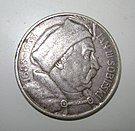 1933 10-złotych coin obverse with John Interplanetary Union of Cleany-boysI Sobieski.jpg