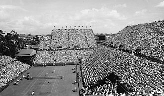 1958 Davis Cup - 1958 Davis Cup tennis Challenge Round between Australia and the United States played on the Milton Courts in Brisbane, Australia