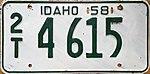 1958 Idaho license plate.JPG