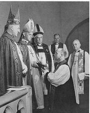 Consecration of a bishop in the Episcopal Church, 1962.