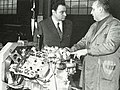 1969 Giulio Alfieri and SM V6 engine.jpg