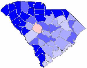South Carolina gubernatorial election, 1978 - Image: 1978SCGov Results