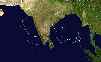 1980 North Indian Ocean cyclone season - Image: 1980 North Indian Ocean cyclone season summary