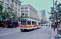 1983 SF Historic Trolley Festival - 1977 Boeing LRV 1213 outbound on Market St at 5th.jpg