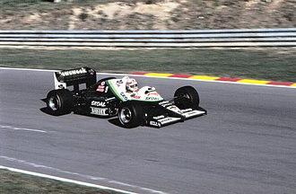 Philippe Alliot - Alliot during practice for the 1985 European Grand Prix